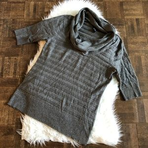Torrid 2X Gray Silver Cowl Neck Long Sweater